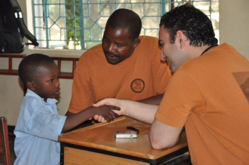 albert and mbisi at orphanage